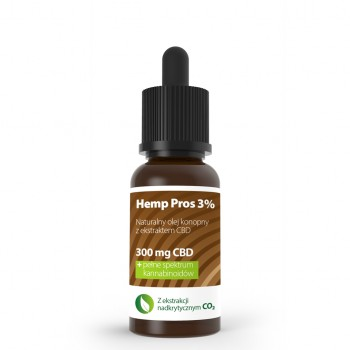 Olejek konopny CBD Hemp Pros 3% 10 ml