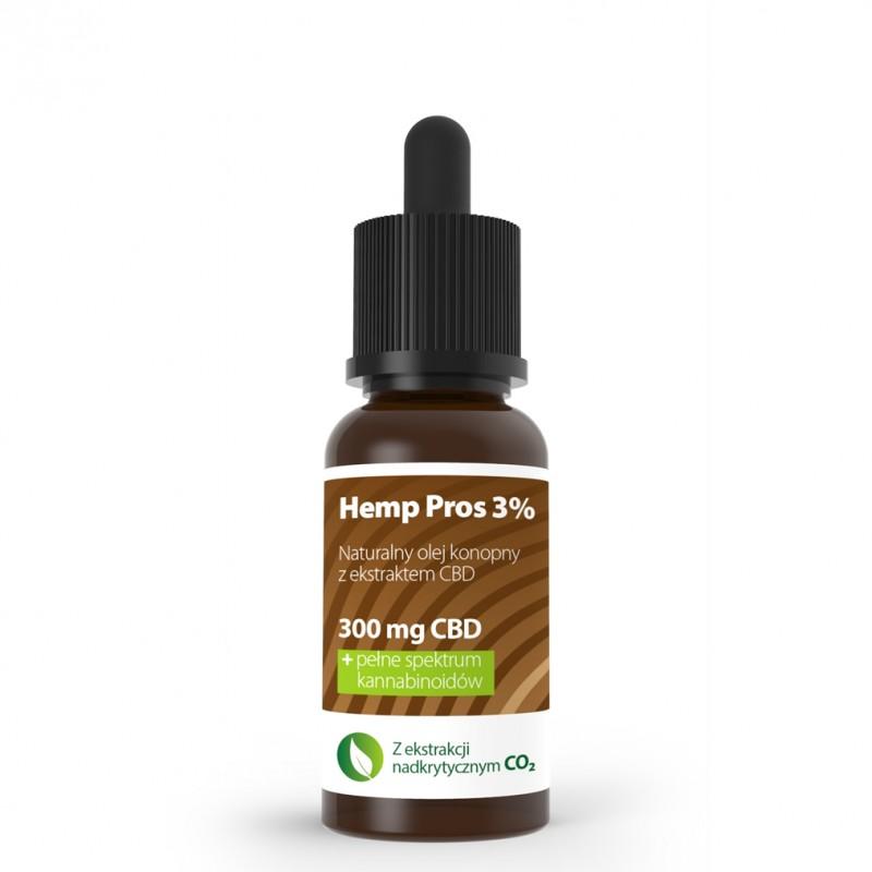 Olej konopny CBD Hemp Pros 3% 10 ml
