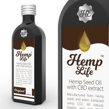 Olej konopny CBD Hemp Life 50 mg 250 ml