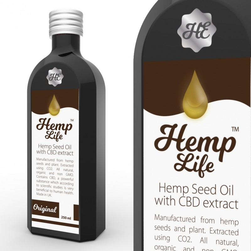 Olej konopny CBD Hemp Life 50 mg 250 ml