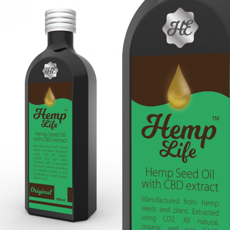 Olej konopny CBD Hemp Life 100 mg 250 ml
