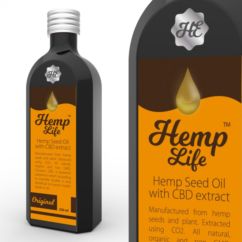 Olej konopny CBD Hemp life 150 mg 250 ml