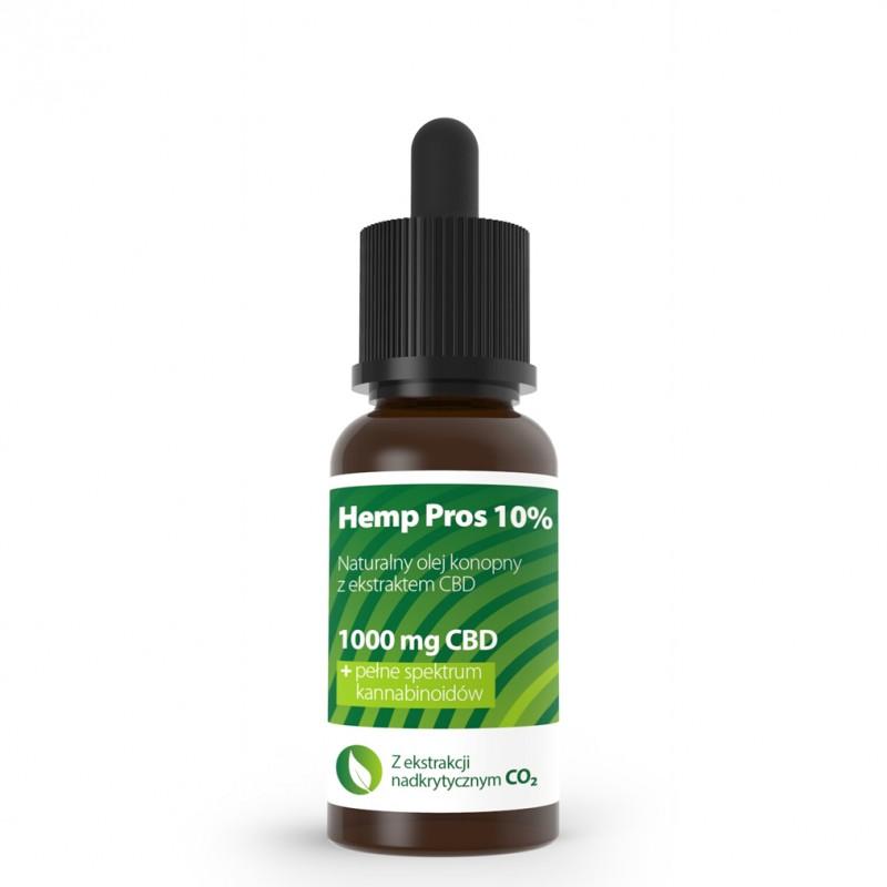 Olej konopny CBD Hemp Pros 10% 10 ml