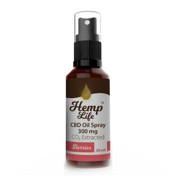 Hemp Life Spray Berries 300 mg 30 ml