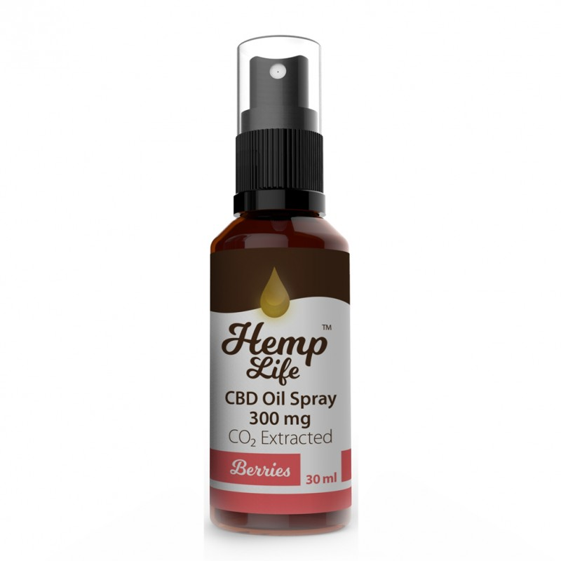 Olej konopny CBD Spray Berries 300 mg 30 ml